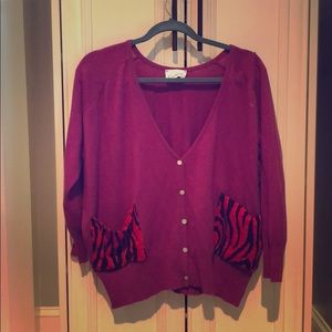 Purple 100% Cashmere Sweater